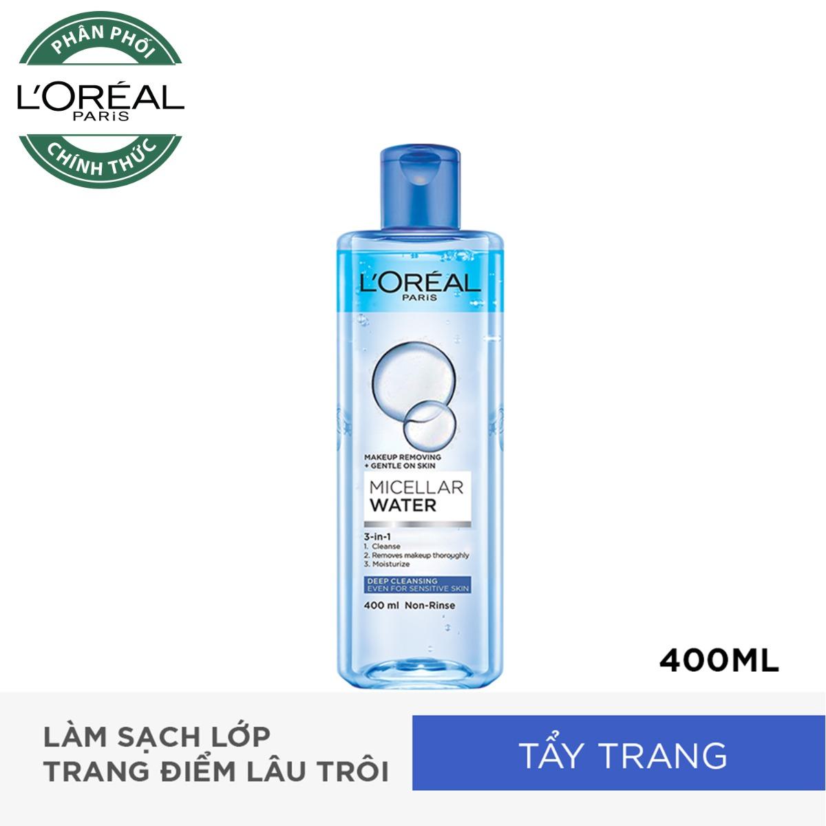 Nước Tẩy Trang L'Oreal 3-in-1 Làm Sạch Sâu 400ml