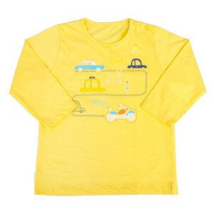 Áo Tay Dài Nút Vai Hello Baby In Hình Ngẫu Nhiên Màu Vàng Size 4 (al0609)