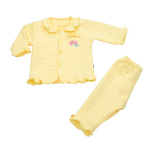Bộ Bé Gái Baby Mommy Viền Bèo Vàng Size 5 Từ 13,5 - 15,5 kg bod0014.5