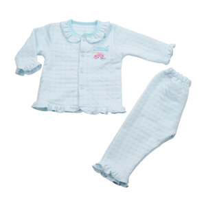Bộ Bé Gái Baby Mommy Viền Bèo Xanh Biển Size 3 Từ18 - 24 tháng (bod0014.3)