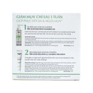 Combo Eucerin Pro ACNE Gel Rửa Mặt 20ml + Tinh Chất  Giúp Giảm Mụn 5ml