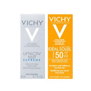 Combo Vichy Kem Chống Nắng 3ml + Kem Dưỡng Chống Lão Hóa Ban Đêm 3ml