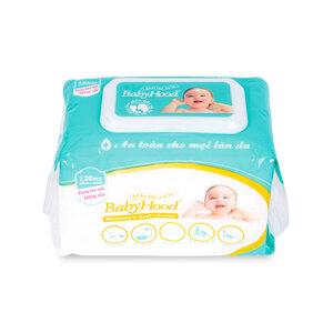 Khăn Khô Em Bé Babyhood 120 miếng