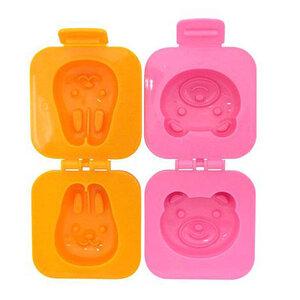 Khuôn Tạo Hình Cơm, Trứng Kokubo Hình Gấu Và Thỏ