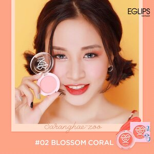 Má Hồng Dạng Kem Eglips 02 Blossom Coral 2.2g