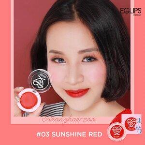 Má Hồng Dạng Kem Eglips 03 Sunshine Red 2.2g