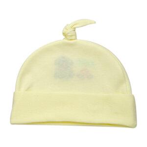 Nón Hello Baby Cột Dây Màu Vàng Nhạt Size 1 (ss0201)