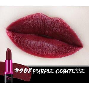 Son Màu Chuẩn Lì Màu Tím 908 Purple Comtesse - 3.9g