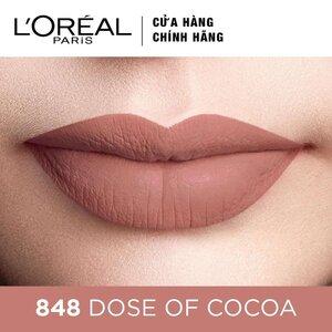 Son Kem Lì Lâu Trôi L'Oreal 848 Dose of Cocoa 6.3ml