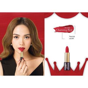 Son Lì Collagen Siêu Mịn Lip On Lip Màu Đỏ Cổ Điển 4g