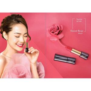 Son Lì Collagen Siêu Mịn Lip On Lip Màu Hồng Đỏ 4g