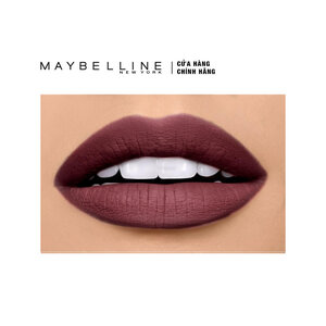Son Lì Mềm Môi Màu Đỏ Tía Maybelline Powder Matte Rosewood Red 3.9g