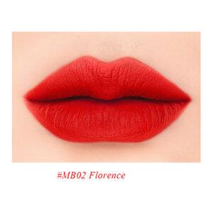 Son Lì MeBeauty Màu Đỏ Cam MB02 Florence
