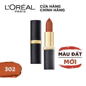 Son Lì Mịn Môi L'Oreal 302 Rock On Fire 3.7g