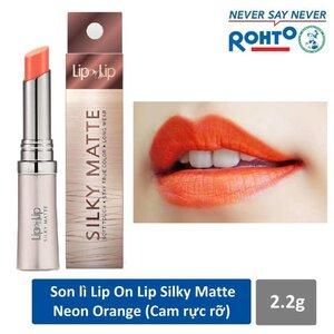 Son Lì Siêu Mịn Lip On Lip Màu Cam Neon 2.2g