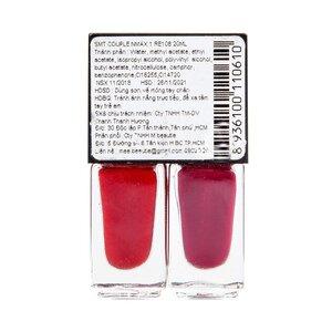 Sơn Móng Tay Mee Beautie Màu Đỏ + Đỏ Hồng 10mlx2