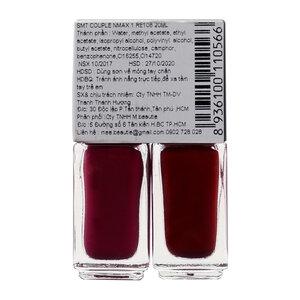 Sơn Móng Tay Mee Beautie Màu Hồng Đậm + Đỏ 10mlx2