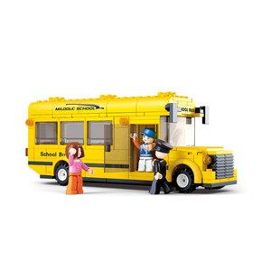 Town - Bộ Lắp Ráp Xe Bus Trường Học Nhỏ Sluban (219PCS)