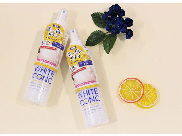 White Conc Body Lotion: Review xịt dưỡng sáng da của Nhật