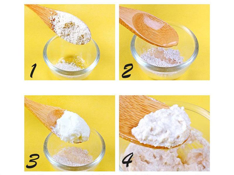 Cách trị thâm môi từ sữa chua và yến mạch tẩy tế bào chết