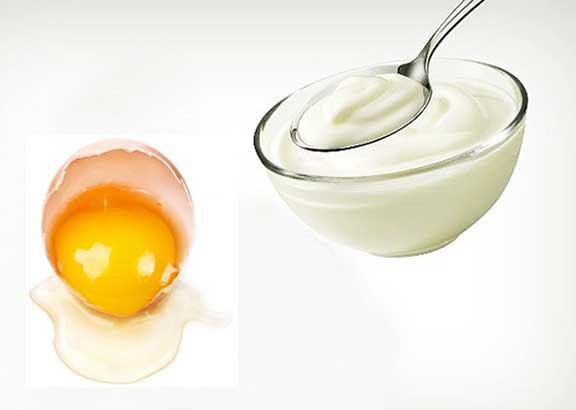 Mặt nạ sữa chua và trứng gà