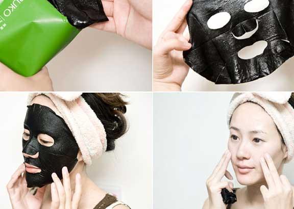 Bao bì, thiết kế của mặt nạ trị mụn Naruko Tea Tree Shine Control Blemish Clear Mask