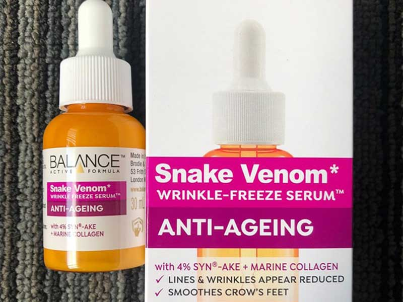 Serum Nọc Rắn Ngăn Ngừa Lão Hóa Balance Active Formula Snake Venom Wrinkle Freeze