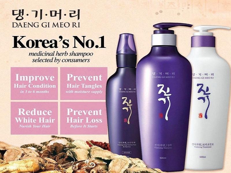 Top 5 nhãn hàng chăm sóc tóc cho nam từ Hàn Quốc