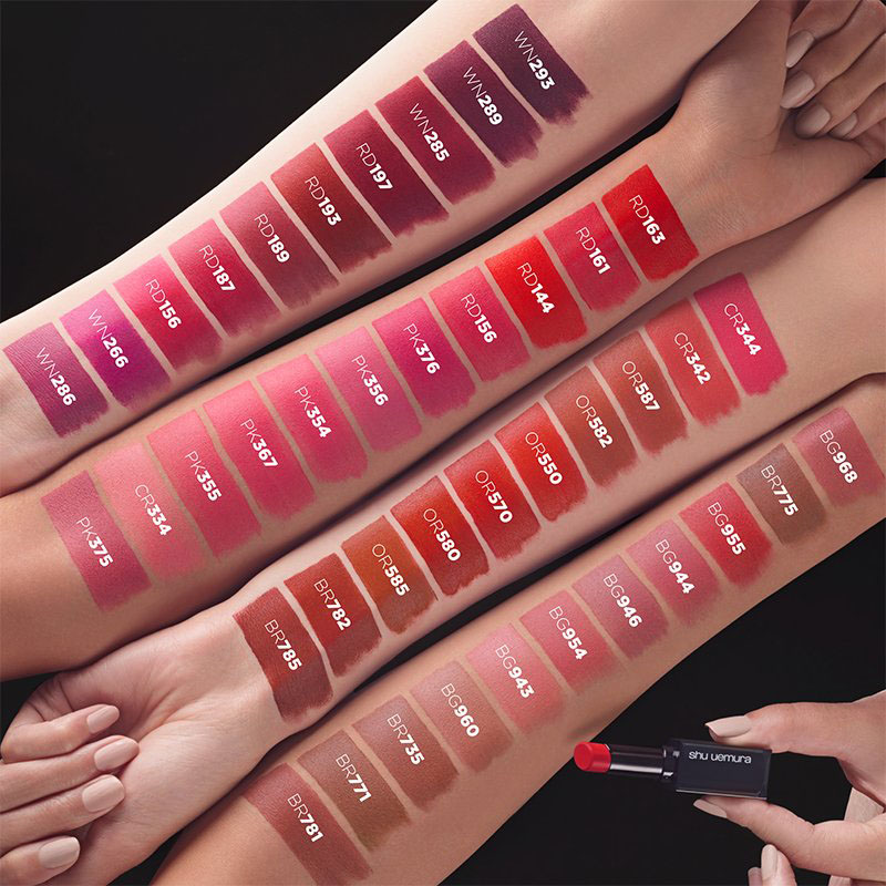 Review son lì SHU UEMURA Rouge Unlimited Lipstick 5