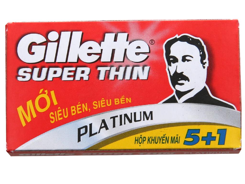 Bộ Lưỡi Lam Gillette Super Thin Platinum