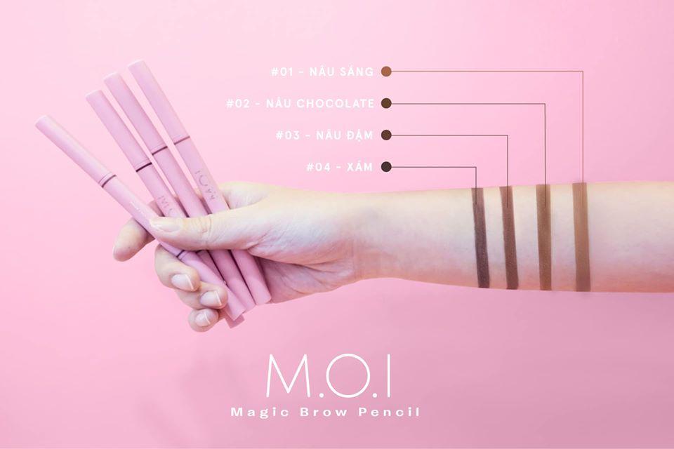 M.O.I Magic Brow Pencil Bảng Màu