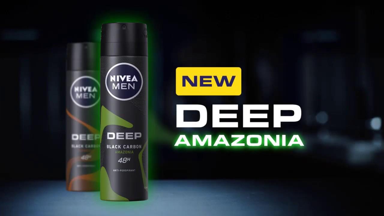 Xịt Khử Mùi Cho Nam Nivea Than Hoạt Tính Hương Rừng Amazon Deep Black Charcoal Green Spray