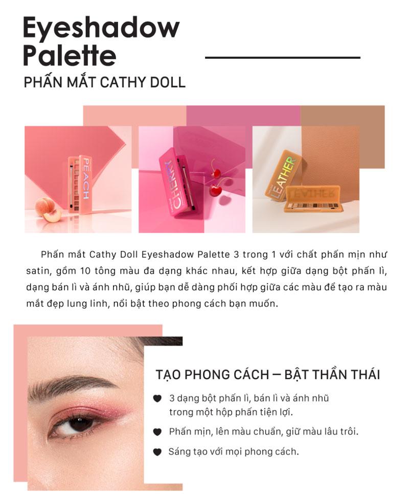 Bảng Màu Mắt Cathy Doll Eyeshadow Palette 10 Ô