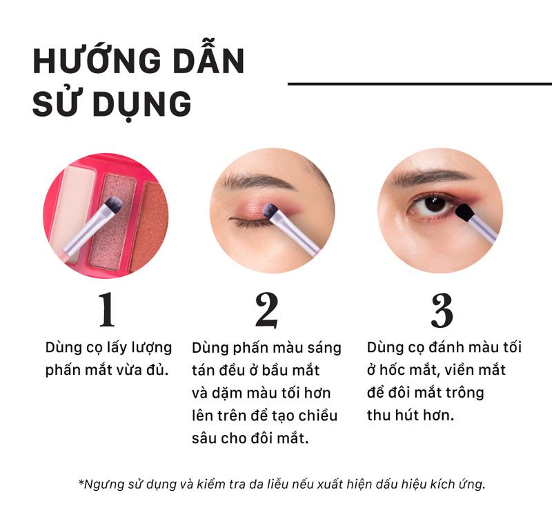 Hướng dẫn sử dụng Bảng Màu Mắt Cathy Doll Eyeshadow Palette