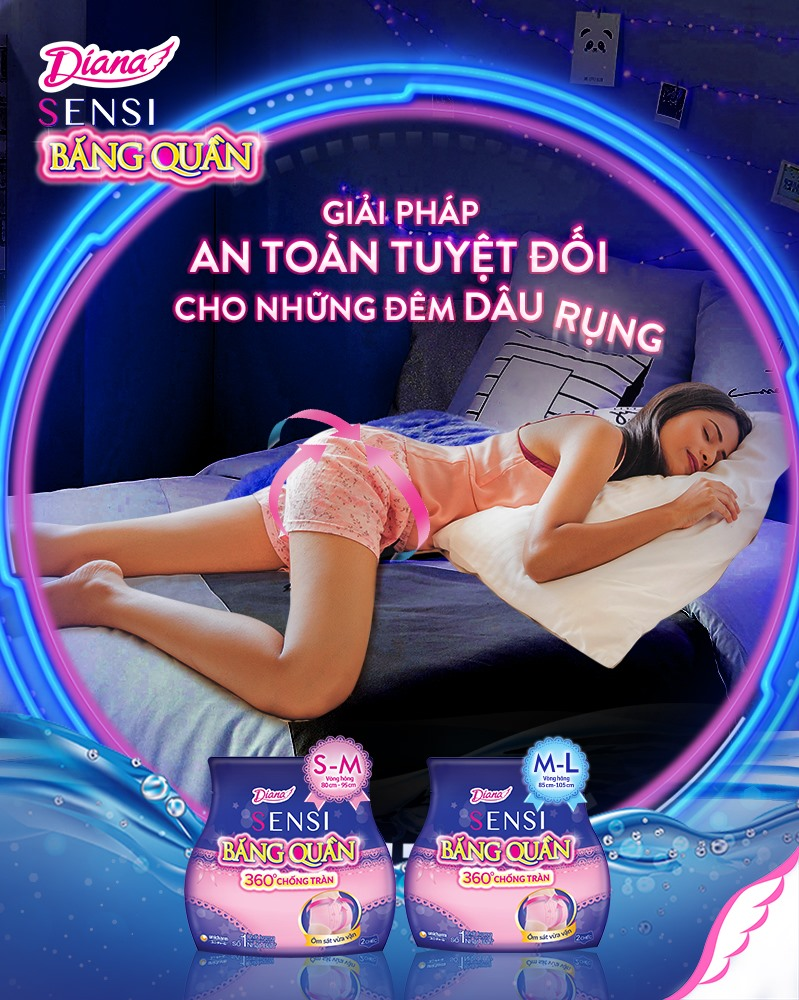Băng Vệ Sinh Diana Ban Đêm Dạng Quần hiện đã có mặt tại Hasaki với 2 size cho bạn lựa chọn.