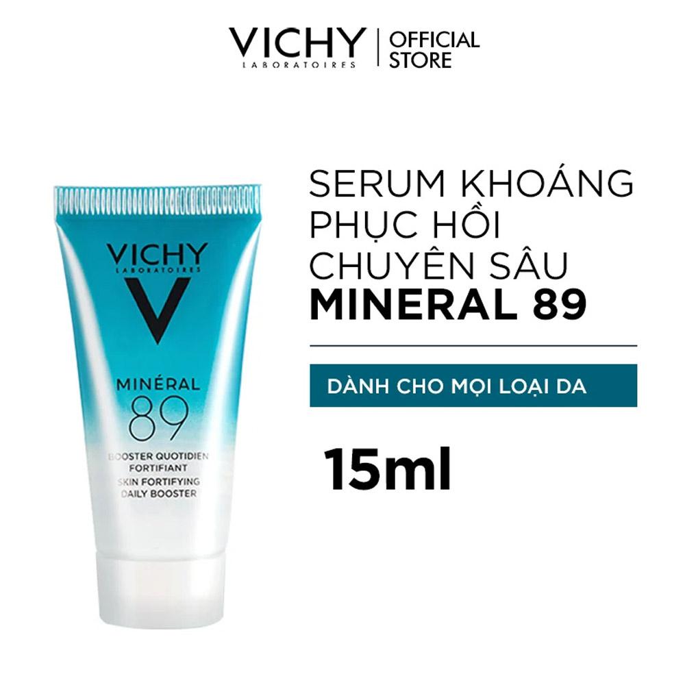 Dưỡng Chất Vichy Giàu Khoáng Chất Giúp Da Sáng Mịn Và Căng Mượt Mineral 89 Serum 15ml