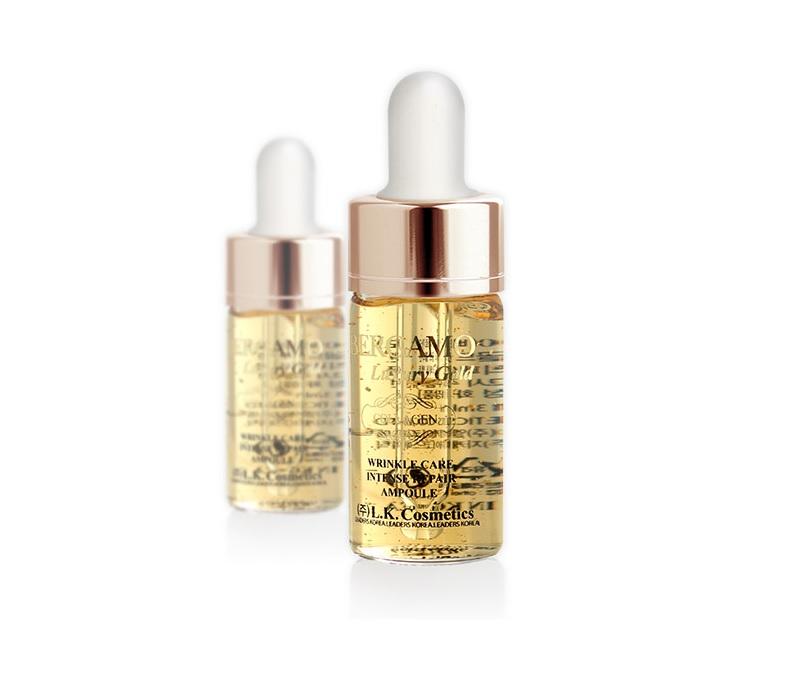 Kết quả hình ảnh cho Tinh Chất Bergamo Luxury Gold L.K.Cosmetics (4Ea)