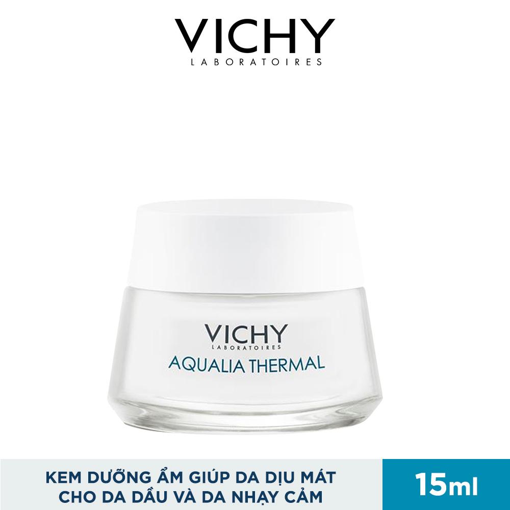Kem Dưỡng Ẩm Vichy Giúp Da Dịu Mát Cho Da Dầu Và Da Nhạy Cảm Aqualia Thermal Cream-Gel 15ml