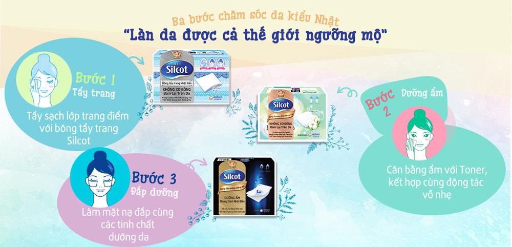Bông Tẩy Trang Cao Cấp Silcot Premium 66 Miếng đa công dụng, phù hợp cho mọi nhu cầu trang điểm và chăm sóc da