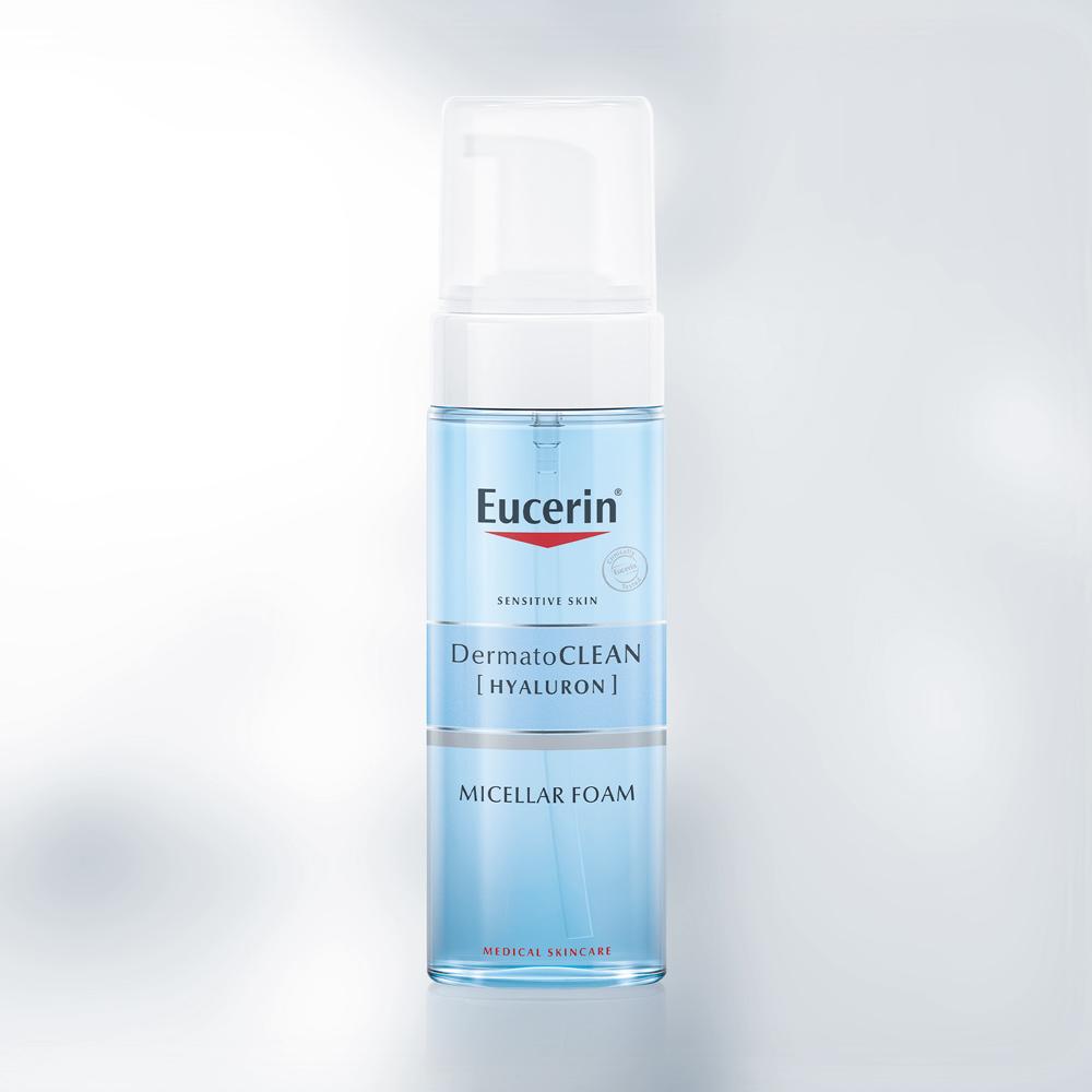 Bọt Tẩy Trang Làm Sạch & Dưỡng Ẩm Da Eucerin Dermato Clean Hyaluron Micellar Foam 3 in 1
