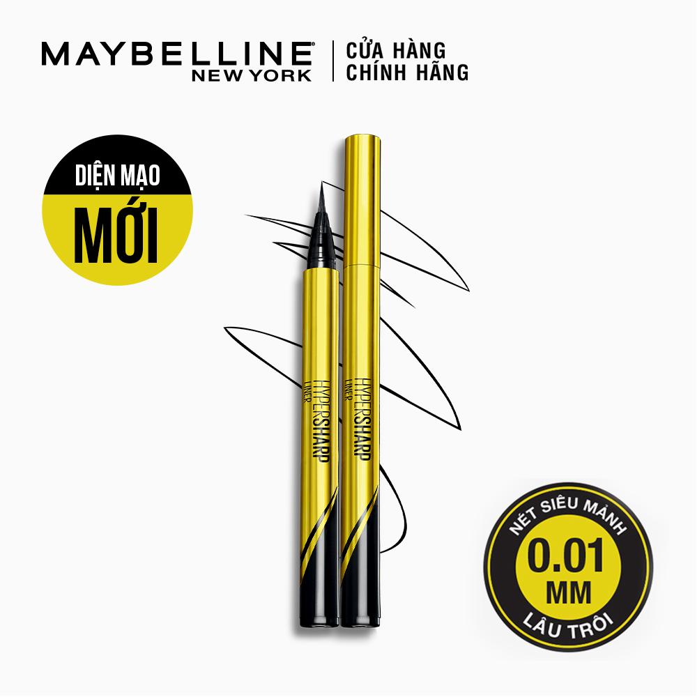 Bút Kẻ Mắt Nước Sắc Mảnh Maybelline Màu Đen 0.5g | Hasaki.vn