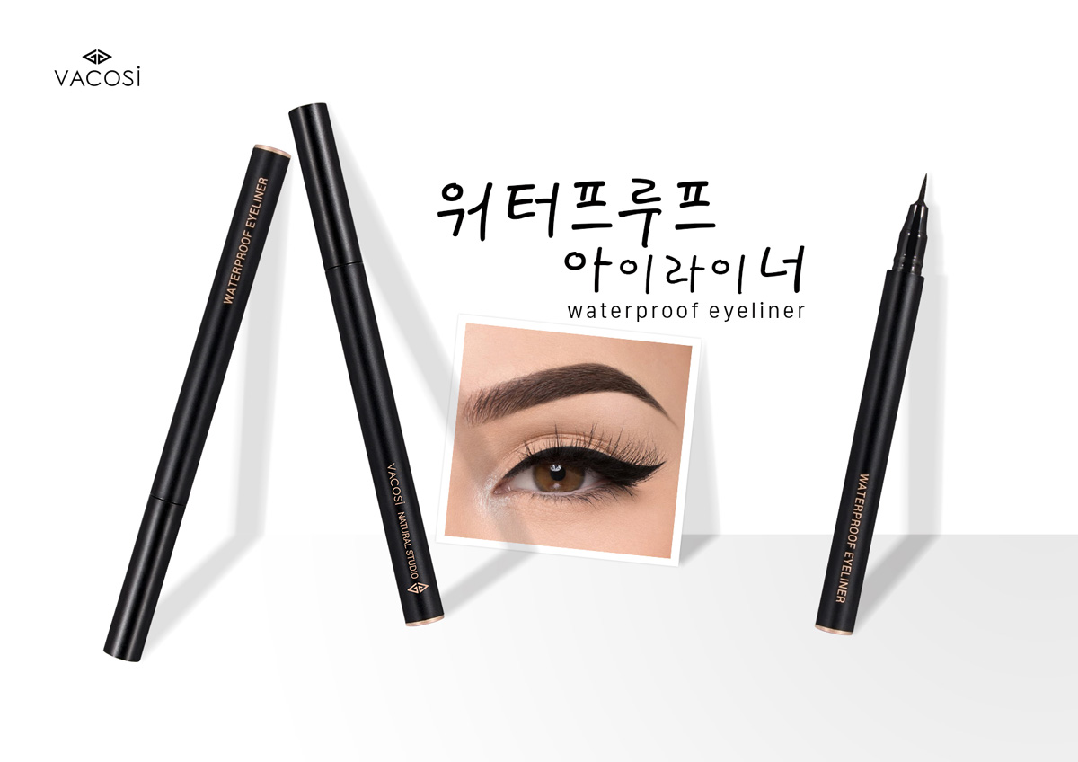 Bút Kẻ Mắt Nước VACOSI Waterproof Eyeliner Pen Siêu Lì Siêu Mảnh