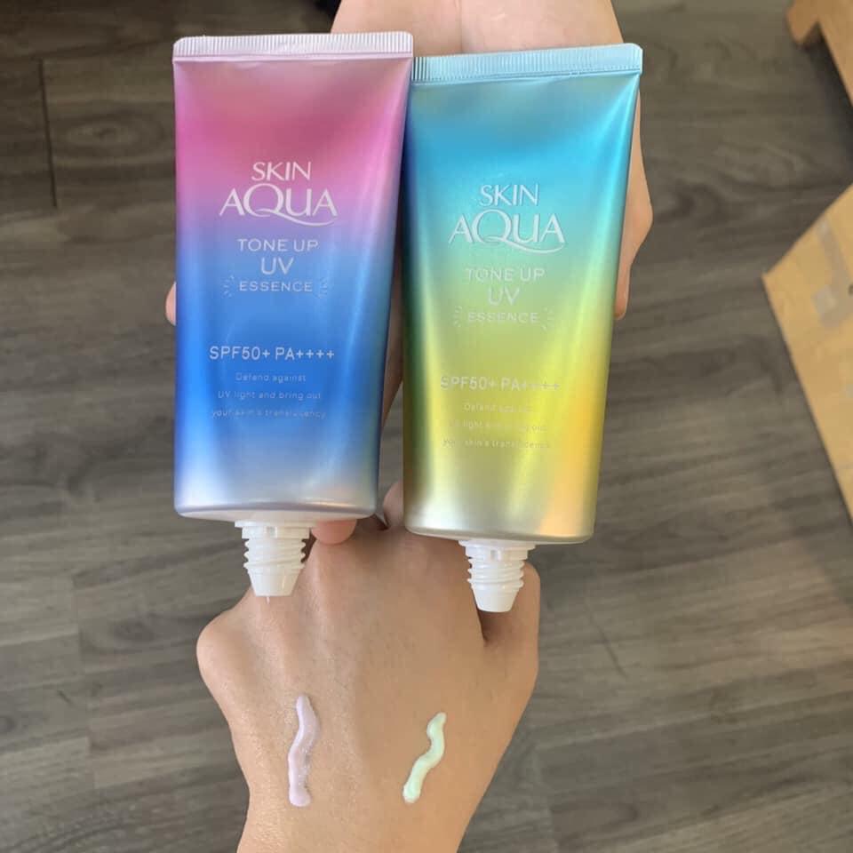 Tinh Chất Chống Nắng Dưỡng Ẩm Nâng Tông Che Khuyết Điểm Sunplay SPF50+ PA++++ Skin Aqua Tone Up UV Essence hiệu quả không