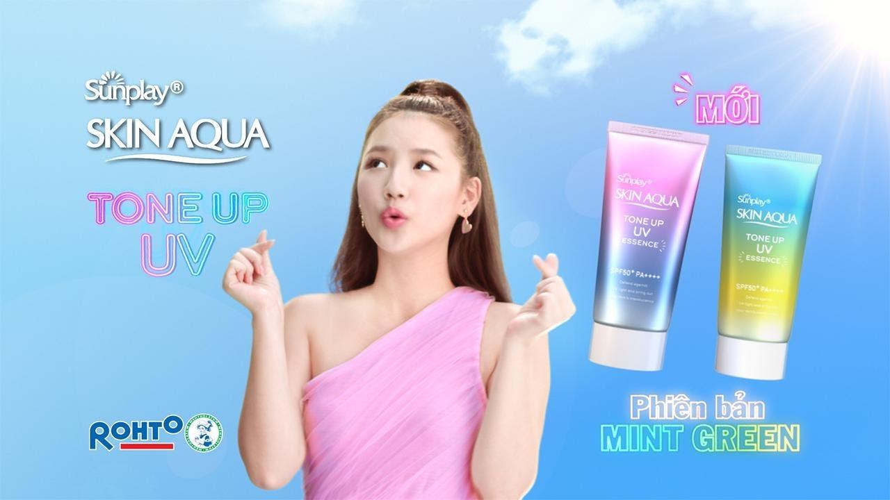 Tinh Chất Chống Nắng Dưỡng Ẩm Nâng Tông Che Khuyết Điểm Sunplay SPF50+ PA++++ 50g Skin Aqua Tone Up UV Essence