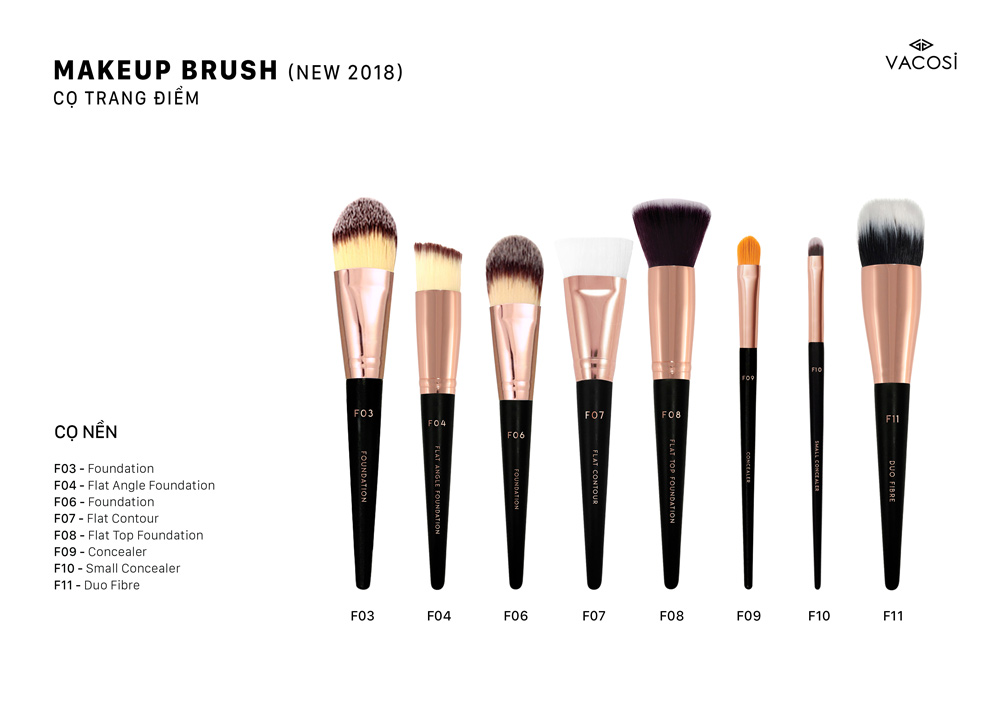 Cọ Đánh Nền Vacosi Foundation Brush