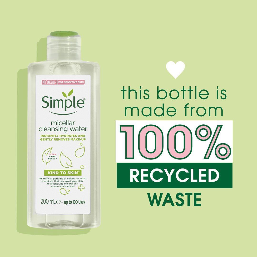 Nước Tẩy Trang Simple Kind To Skin Micellar Cleansing Water an toàn cho làn da nhạy cảm