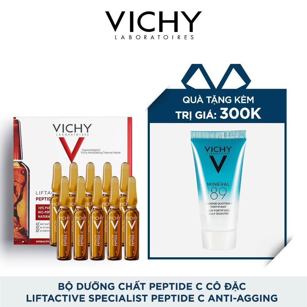Combo Vichy Ampoule Peptide-C Cô Đặc Ngừa Lão Hóa & Dưỡng Chất Khoáng Mineral 89
