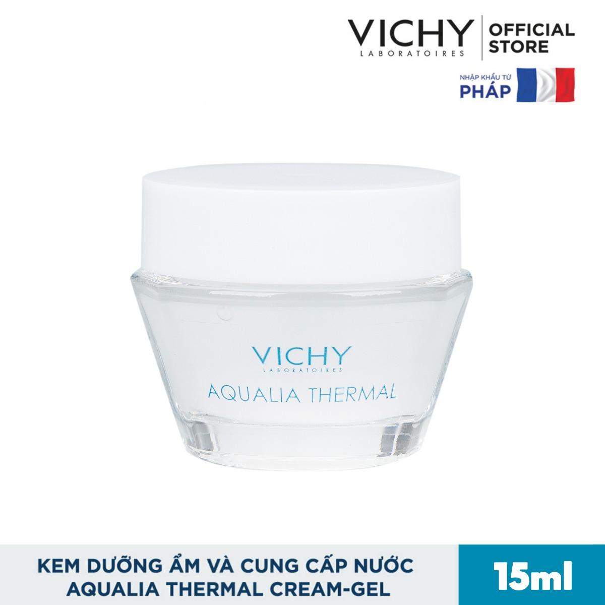 Kem Dưỡng Ẩm & Cung Cấp Nước Dạng Gel Vichy Aqualia Thermal Rehydrating Cream-Gel 15ml