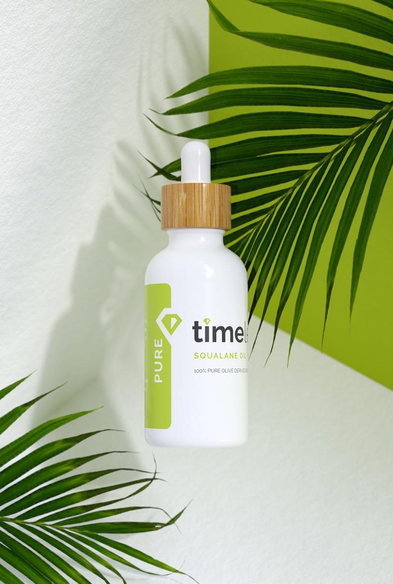 Timeless Squalane Oil 100% Pure  được làm từ 100% Squalane tinh khiết chiết xuất từ trái Ô-liu