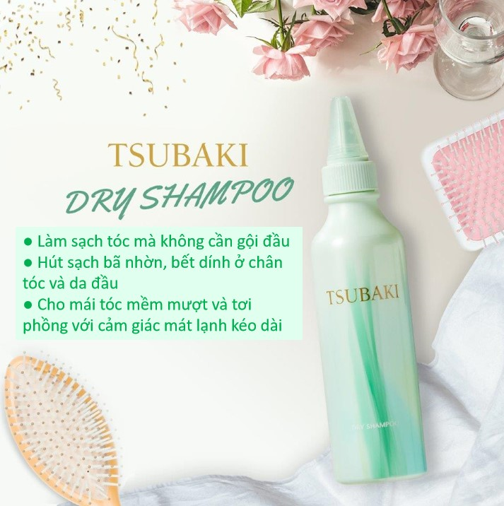 Dầu Gội Khô Tsubaki Dry Shampoo
